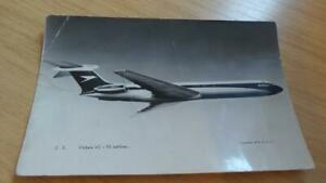 AK119: Postcard - Vickers VC 10 Jetliner - Courtesy of BOAC - Frith's Series