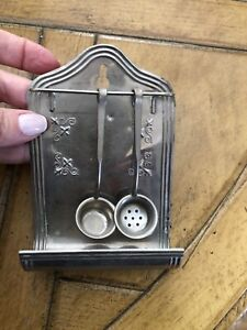 Antique Doll House Tin Kitchen Cookware & Tableware