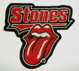 """Rolling Stones~Tongue~Rock & Roll~Embroidered PATCH~3 1/2"""" x 3 1/4""""~Iron or Sew"""
