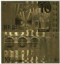 10 EURO 24K GOLD BANKNOTE BILL 2002