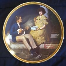 "*Limited Edition* Collector Plate Norman Rockwell ""Pondering on the Porch"""