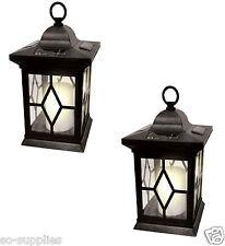 2 X accionado por energía solar Colgante Vela Linterna de jardín lámpara de mesa al aire libre luz del coche