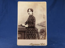 Zimmerman Cabinet Photo St. Paul Minn Young Lady Fancy Floral Gown Lots of Curls
