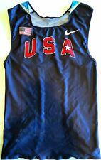 NIKE PRO ELITE USA Olympic Track & Field Blue Singlet Men's Size XL