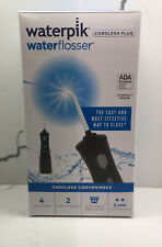 Waterpik Cordless Plus satin Black Water Flosser WP-464W 4 tips NEW