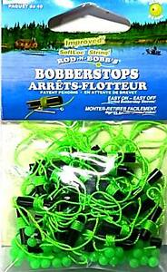 Rod-N-Bobb's Chartreuse Float & Bead Bobber Stops with Slotted Sleeves (40 pack)