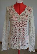 Tapemeasure Women Sweater Size Large Long Sleeve Tan Beige