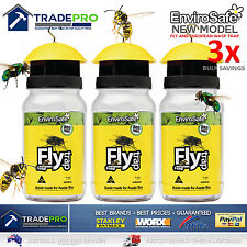 3x Fly Wasp Trap Genuine EnviroSafe® Ultimate with Bait Blow Horse House Catcher