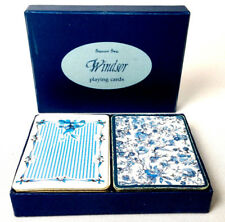 Flowers Windsor 2 Decks Playing Cards For Bridge In Box Potpourri Press Used