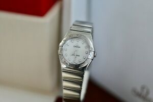 Omega Constellation Diamond MOP 24mm Dial 123.10.24.60.55.001 With Omega Box