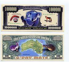 G'Day Mate Australian millon dollar bill