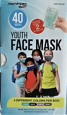 New Youth Face Mask 40 Mask, Packed in (2's) 4 Different Colors, Best Seller #1
