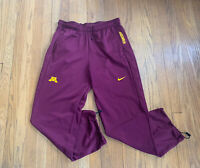 Minnesota Golden Gophers Nike Dri-Fit Training Pants Mens M EUC Maroon And Gold