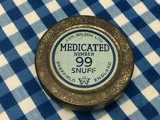 Vintage J. & H. Wilson, Medicated Number 99 Snuff Tin