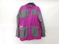 Under Armor Winter Coat Mens Large Purple Ski Jacket Hooded Full Zip Snowboard