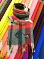 100% Pure Cashmere Scarf | The House of Balmoral | Flisk Red | Soft and Warm