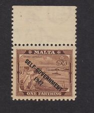 Malta 1947 One Farthing Unused Never Hinged (A1E)