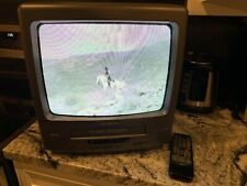 "BROKSONIC 14"" CRT COLOR TV-VCR Combo Gaming TV Model CTSG-8118CTT w/ Remote"
