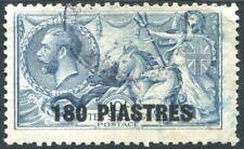 BRITISH LEVANT-1921 180 pi on 10/- Dull Grey-Blue Sg 50 GOOD USED V22532
