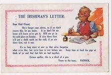 The Irishman's Letter Bamforth Comic Postcard B631