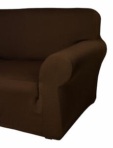 Sofa Protector Easy Stretch Elasticated Furniture Cover Chocolate 1 2 3 Seater