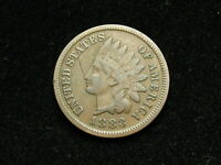 JUST IN!! VF 1883 INDIAN HEAD CENT PENNY w/ PARTIAL LIBERTY &  DIAMONDS 85B