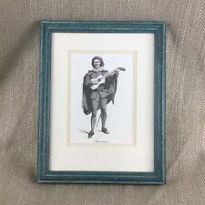 Commedia dell 'Arte Teatro Imagen Scaramuccia italiano Vintage enmarcado impresión