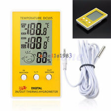 DC105 Digital LCD Indoor Outdoor Humidity Hygrometer Thermometer Meter  Cable