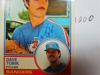 1983 Topps Dave Tobik Autographed Signed Baseball Card