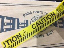 CAUTION Warning Sign Washi Sticky Tape for DIY Photo Album Decor Scrapbook