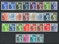 28 Different UM/MNH Wales Regional Machins As Scanned Post Free WITHIN UK.