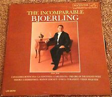 THE INCOMPARABLE BJOERLING, RCA Victor Red Seal LM-2570