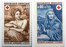 1969 - Francia Yv# 1619/1620 Nueva sin Bisagra MNH Muy Guapo. Cruz Rojo