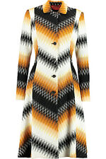 MISSONI SIGNATURE ZIGZAG CROCHET KNIT COAT MADE IN ITALY SIZE UK 10 RETAIL £1780