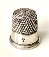 Simons Brothers Antique Victorian 925 Sterling Silver Etched Sewing Thimble