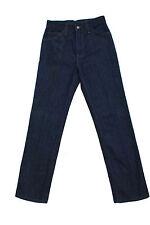 LEVIS 566 STA-PREST Center-creased Vintage Dark Blue Jeans 80s Rock Rare W27 L32
