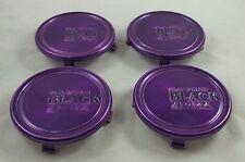 Black di Forza by Savini Wheels Purple Custom Wheel Center Cap Set 4 # C-SA02