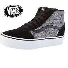 VANS MILTON HI (Textile) Black/White Mens Trainer Sneaker Shoes UK 8