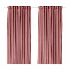 Ikea Vivan Curtains 1 Pair Pink  brand new