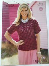 "Stylecraft Senses Lace Ladies Top Knitting Pattern 9123 Sizes 32-50"""