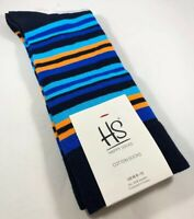 MEN'S HAPPY SOCKS BRIGHT COLORFUL STRIPE PATTERN DRESS SIZE 10-13 CREW SOCKS