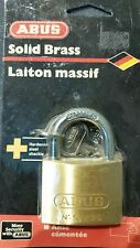 ABUS Solid brass Padlock N 55/50 Brand New still in sealed package with 2keys