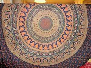 URBAN OUTFITTERS MAGICAL THINKING MANDALA PEACOCKS ELEPHANTS (1) TAPESTRY 88X88