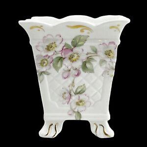 Vintage St. George Fine Bone China Footed Vase Flower Pot Planter England