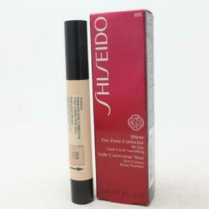 Shiseido Sheer Dark Circle Eye Zone Corrector All Day , # 105 Beige 0.14 oz  NEW