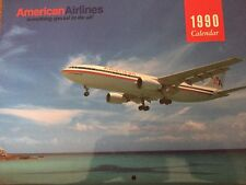 American Airlines 1990 airplane calendar with current dates for 2018...