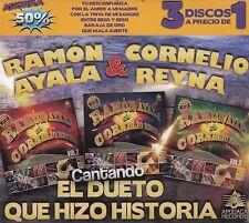 Ramon Ayala,Cornelio Reyna, cantando el Dueto que hizo Historia 3CD New Nuevo
