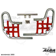 Banshee YFZ 350 YFZ350   Nerf Bars  Alba Racing  Silver bar Red nets 207 T1 SR