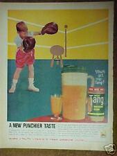 1961 Tang Breakfast Drink Jar Boy Boxing Memorabilia Ring Promo Trade Ad