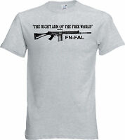FN FAL T Shirt The Right Arm of the Free World 308 Nato British L1A1 Rifle